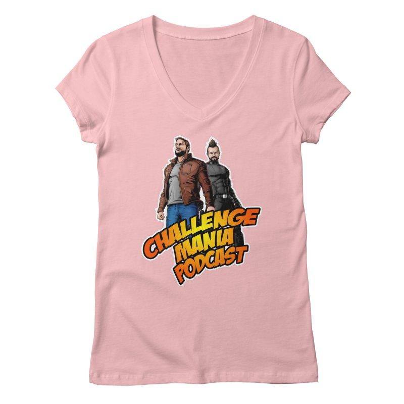 Super Hero Derrick & Scott Women's V-Neck by Challenge Mania Shop