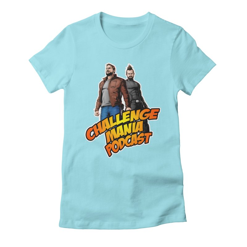 Super Hero Derrick & Scott Women's Fitted T-Shirt by Challenge Mania Shop