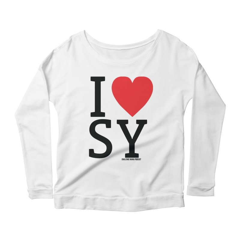 I Love SY Women's Scoop Neck Longsleeve T-Shirt by Challenge Mania Shop
