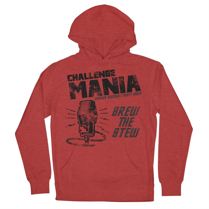 Challenge Mania Vintage (Black) Women's French Terry Pullover Hoody by Challenge Mania Shop