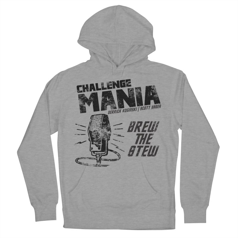 Challenge Mania Vintage (Black) Men's French Terry Pullover Hoody by Challenge Mania Shop