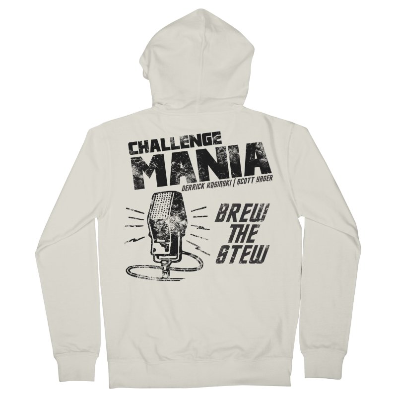 Challenge Mania Vintage (Black) Women's French Terry Zip-Up Hoody by Challenge Mania Shop