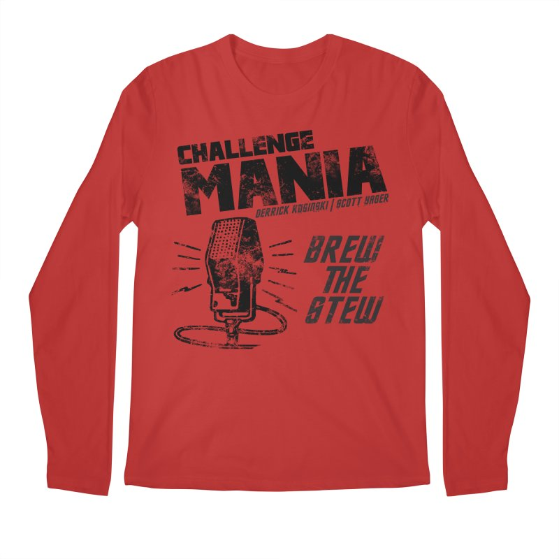 Challenge Mania Vintage (Black) Men's Regular Longsleeve T-Shirt by Challenge Mania Shop
