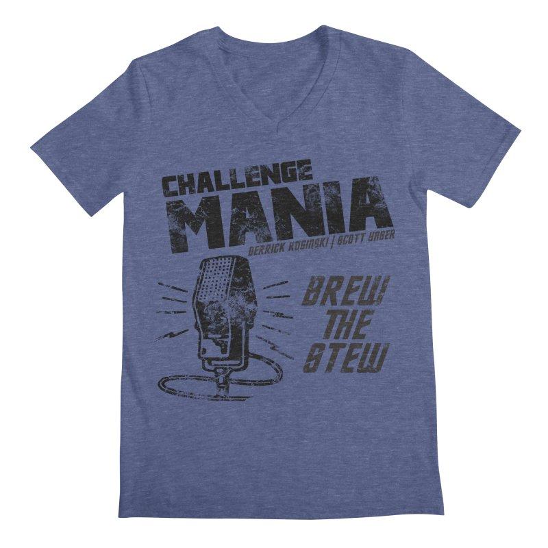 Challenge Mania Vintage (Black) Men's V-Neck by Challenge Mania Shop