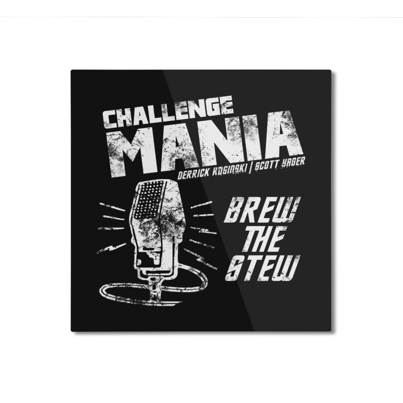Challenge Mania Vintage (White) Home Mounted Aluminum Print by Challenge Mania Shop