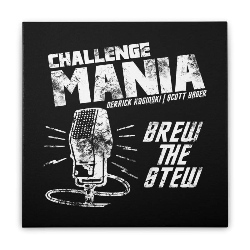 Challenge Mania Vintage (White) Home Stretched Canvas by Challenge Mania Shop