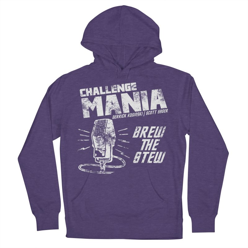 Challenge Mania Vintage (White) Men's French Terry Pullover Hoody by Challenge Mania Shop