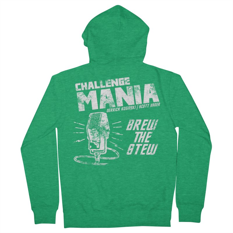 Challenge Mania Vintage (White) Men's French Terry Zip-Up Hoody by Challenge Mania Shop