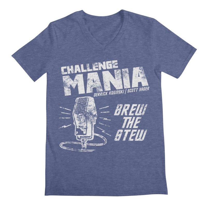 Challenge Mania Vintage (White) Men's V-Neck by Challenge Mania Shop
