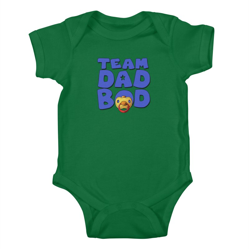 Team Dad Bod Kids Baby Bodysuit by Challenge Mania Shop