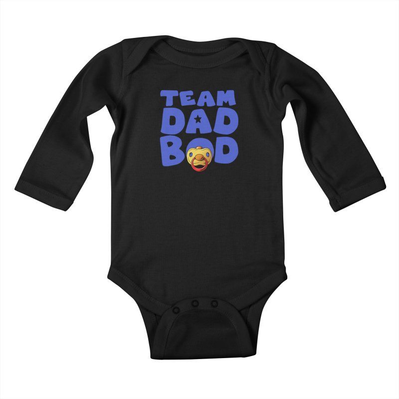 Team Dad Bod Kids Baby Longsleeve Bodysuit by Challenge Mania Shop