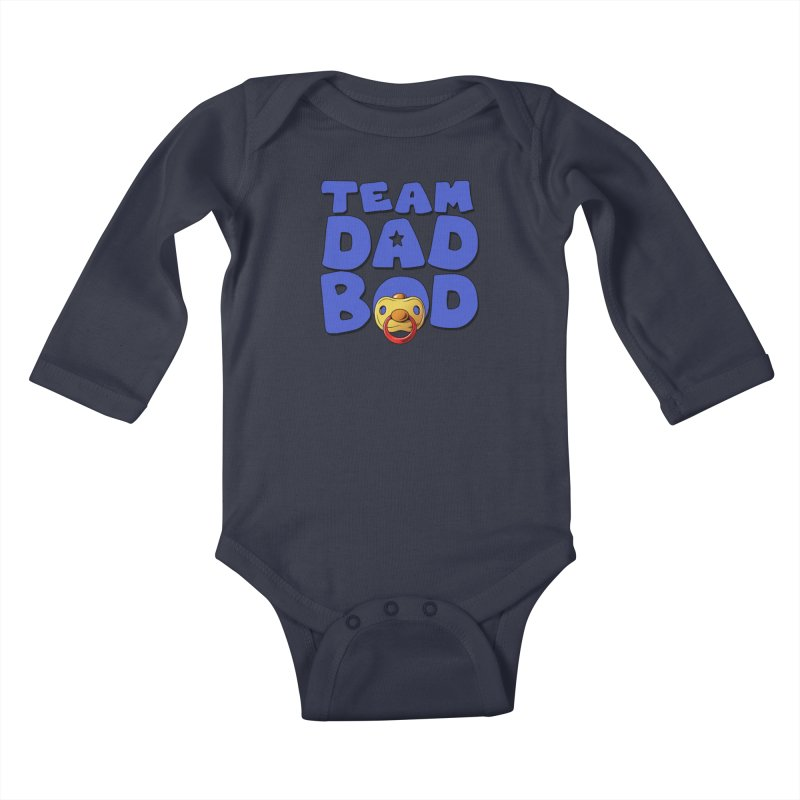 Team Dad Bod Kids Baby Longsleeve Bodysuit by Challenge Mania Shop