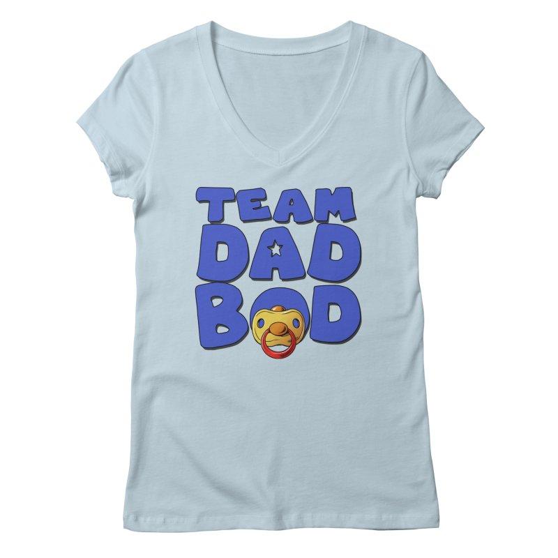 Team Dad Bod Women's Regular V-Neck by Challenge Mania Shop