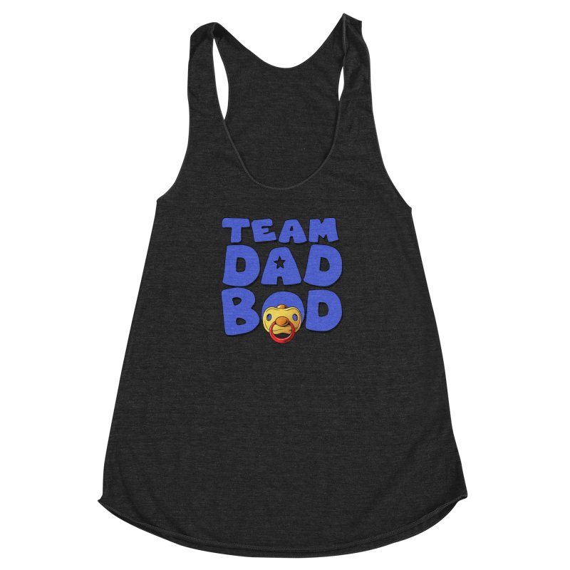 Team Dad Bod Women's Racerback Triblend Tank by Challenge Mania Shop