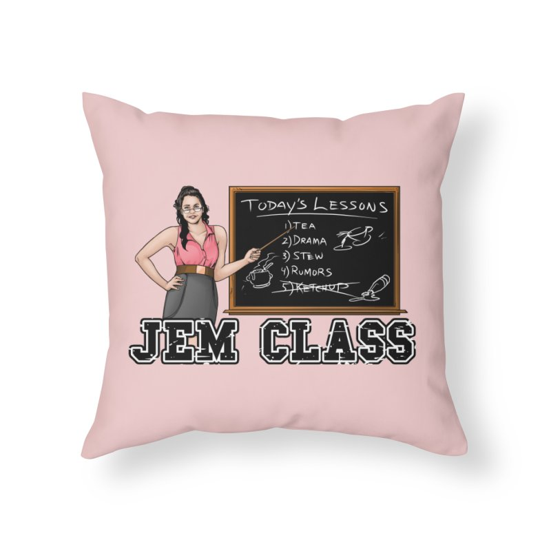Jem Class Jemmye Home Throw Pillow by Challenge Mania Shop