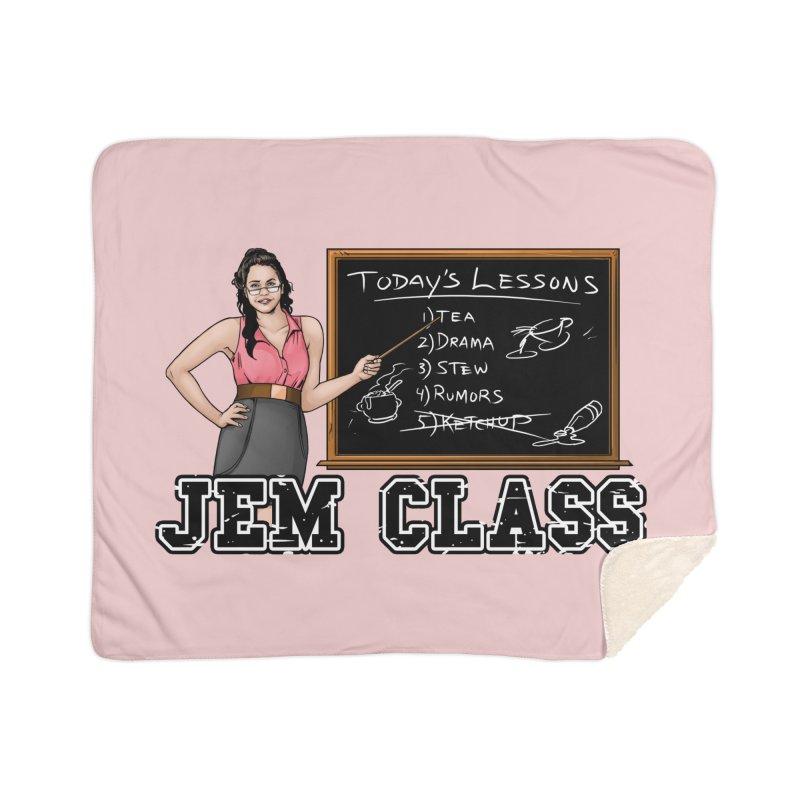 Jem Class Jemmye Home Sherpa Blanket Blanket by Challenge Mania Shop
