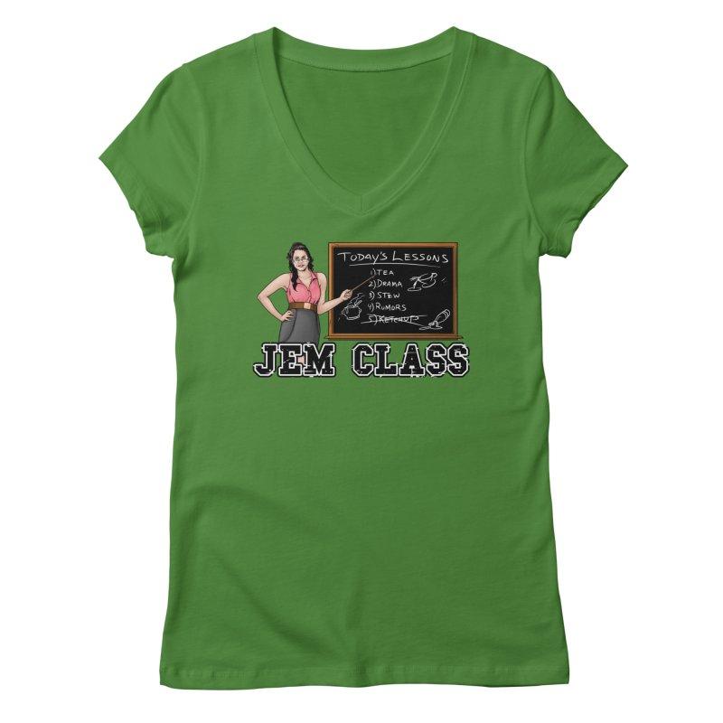 Jem Class Jemmye Women's Regular V-Neck by Challenge Mania Shop