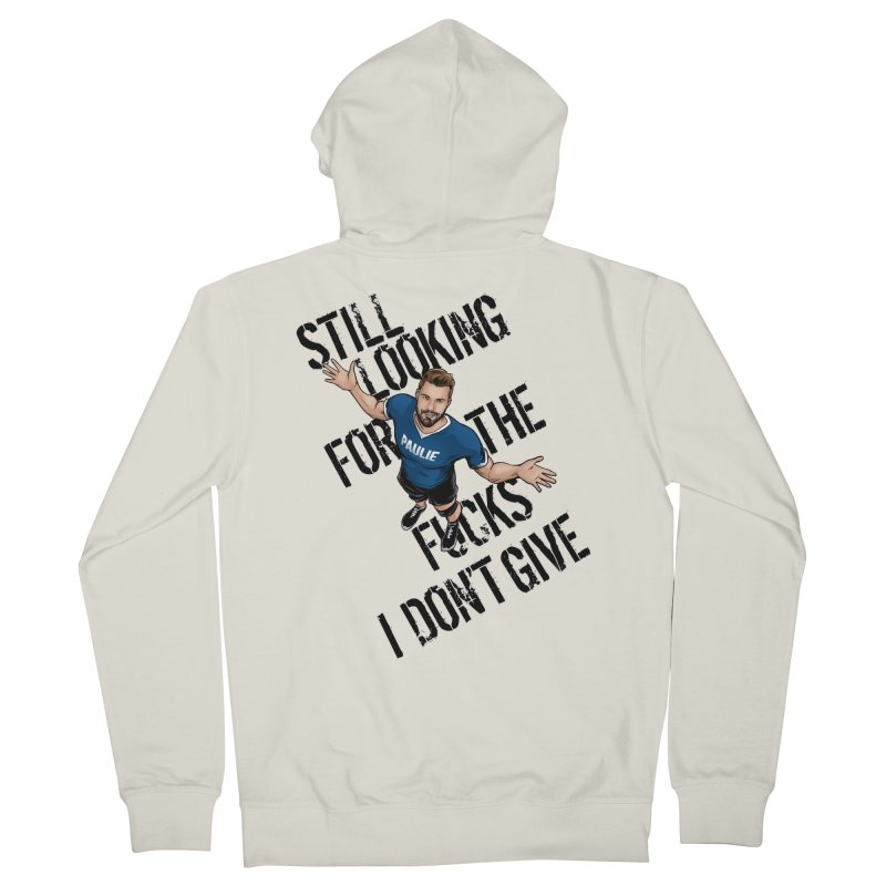 Paulie Still Looking Men's French Terry Zip-Up Hoody by Challenge Mania Shop
