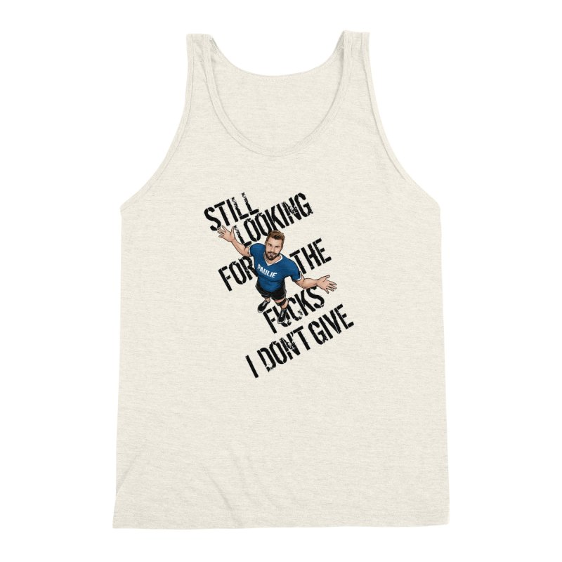 Paulie Still Looking Men's Triblend Tank by Challenge Mania Shop