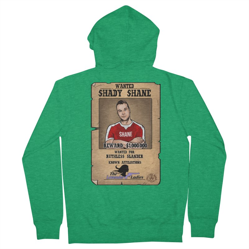 Shady Shane Wanted Men's French Terry Zip-Up Hoody by Challenge Mania Shop