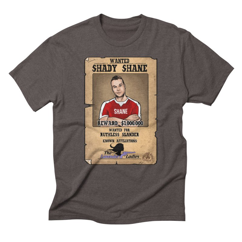 Shady Shane Wanted Men's Triblend T-Shirt by Challenge Mania Shop