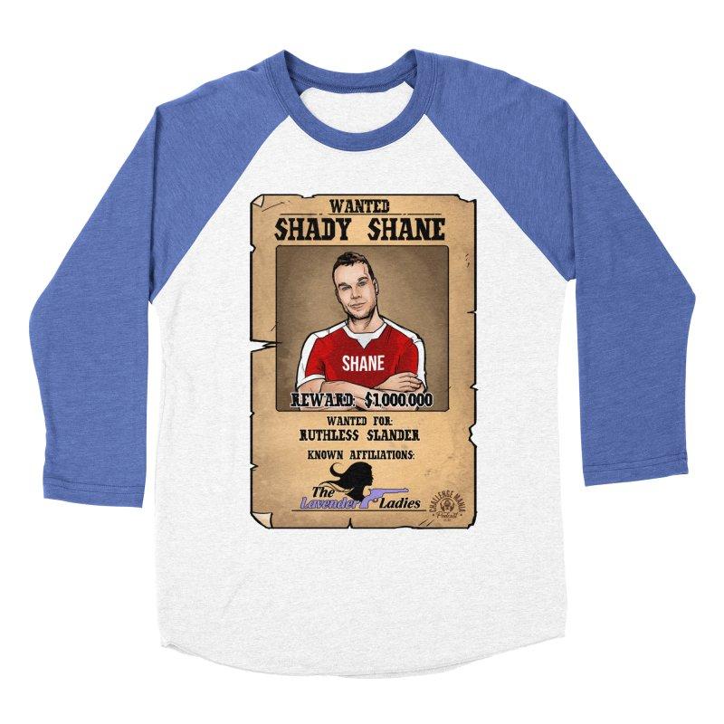 Shady Shane Wanted Men's Baseball Triblend Longsleeve T-Shirt by Challenge Mania Shop