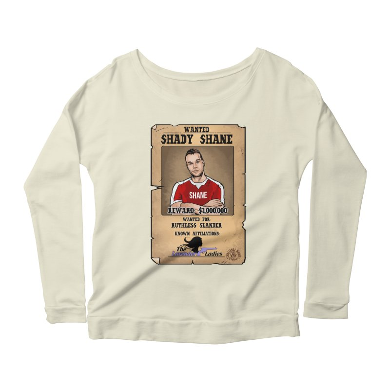 Shady Shane Wanted Women's Scoop Neck Longsleeve T-Shirt by Challenge Mania Shop