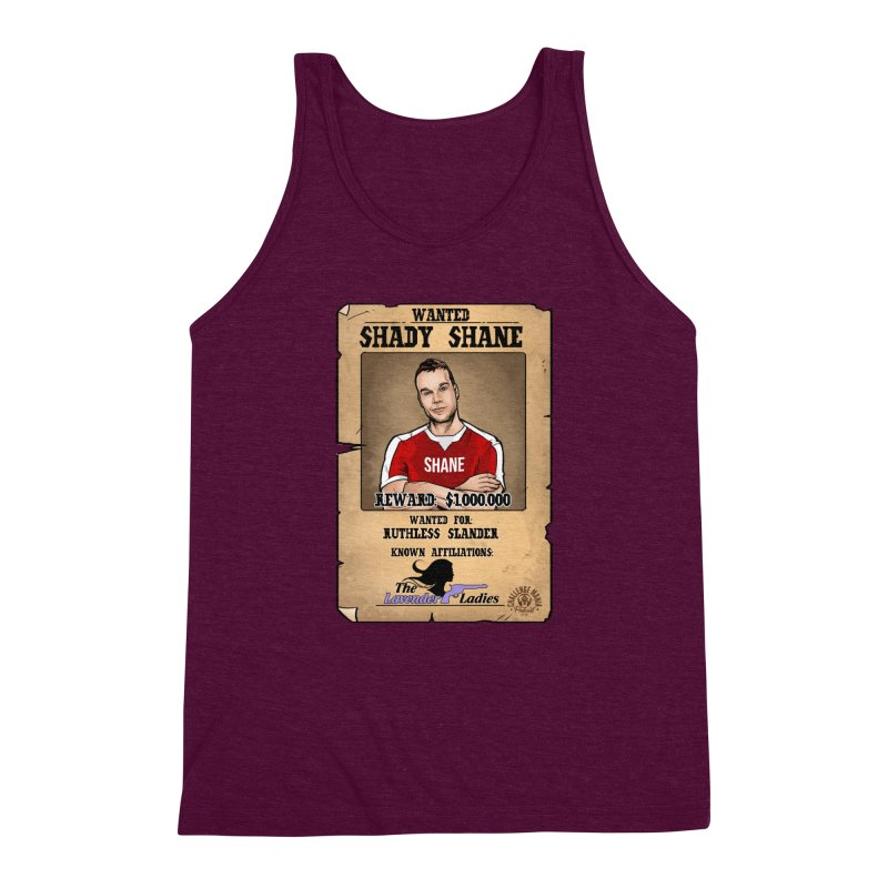 Shady Shane Wanted Men's Triblend Tank by Challenge Mania Shop