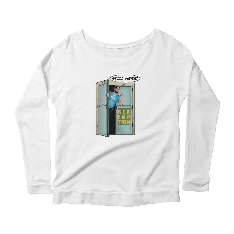 Paulie Still Here Women's Scoop Neck Longsleeve T-Shirt by Challenge Mania Shop