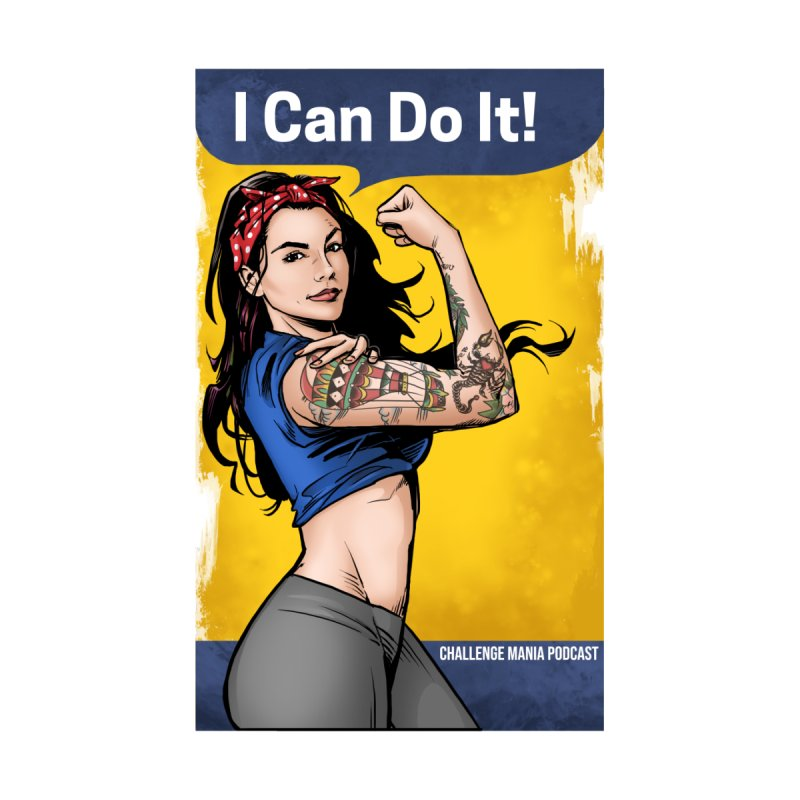 Kailah Can Do It (Yellow Background) Women's V-Neck by Challenge Mania Shop
