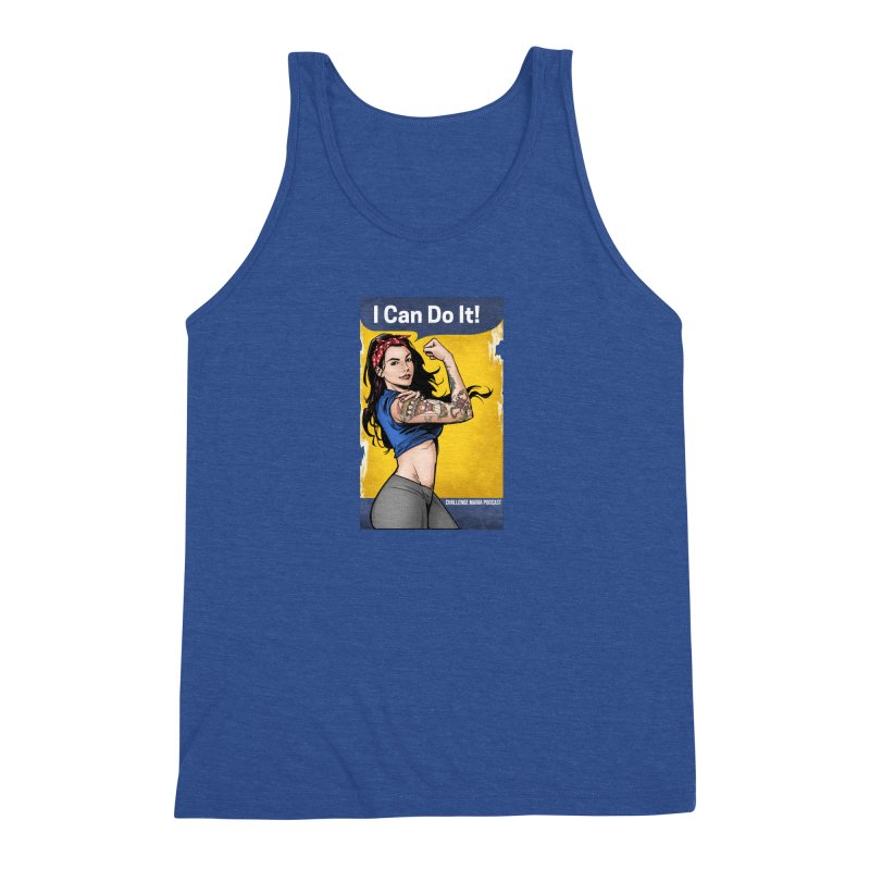 Kailah Can Do It (Yellow Background) Men's Tank by Challenge Mania Shop