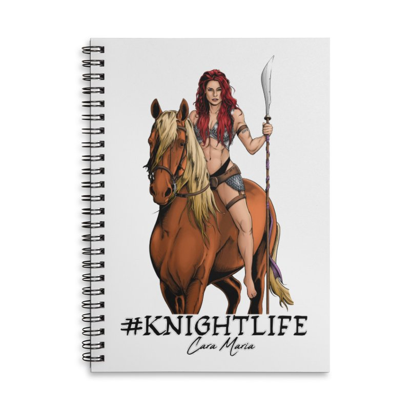 Cara Knight Life Accessories Lined Spiral Notebook by Challenge Mania Shop