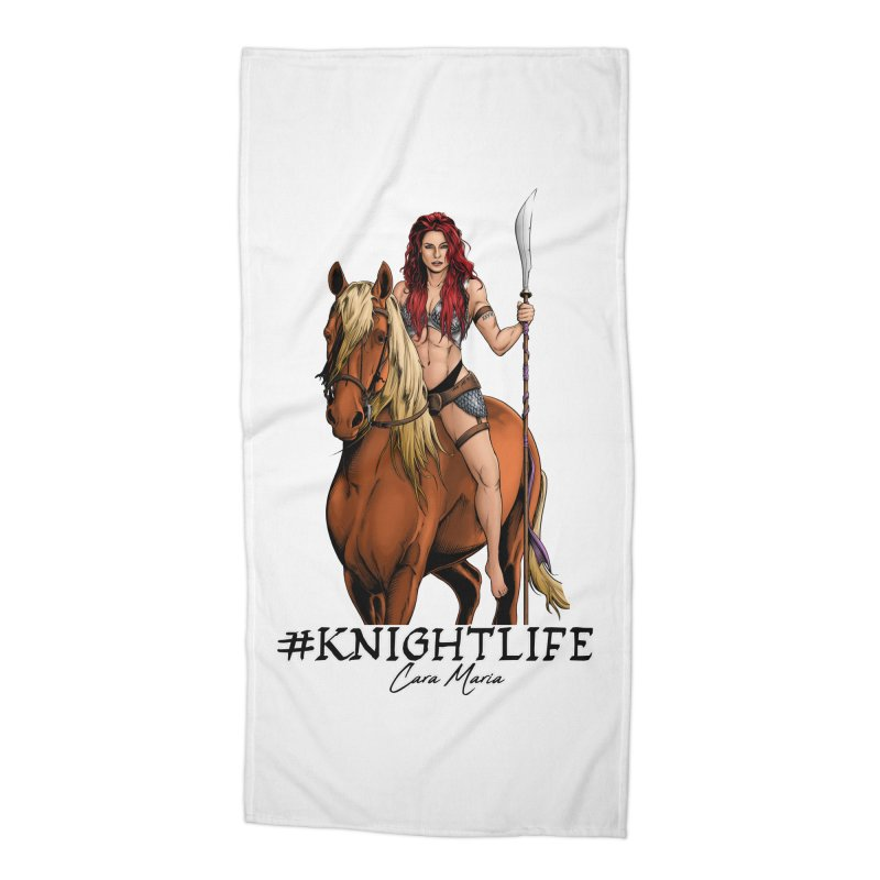 Cara Knight Life Accessories Beach Towel by Challenge Mania Shop