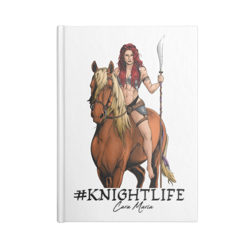 Cara Knight Life Accessories Blank Journal Notebook by Challenge Mania Shop