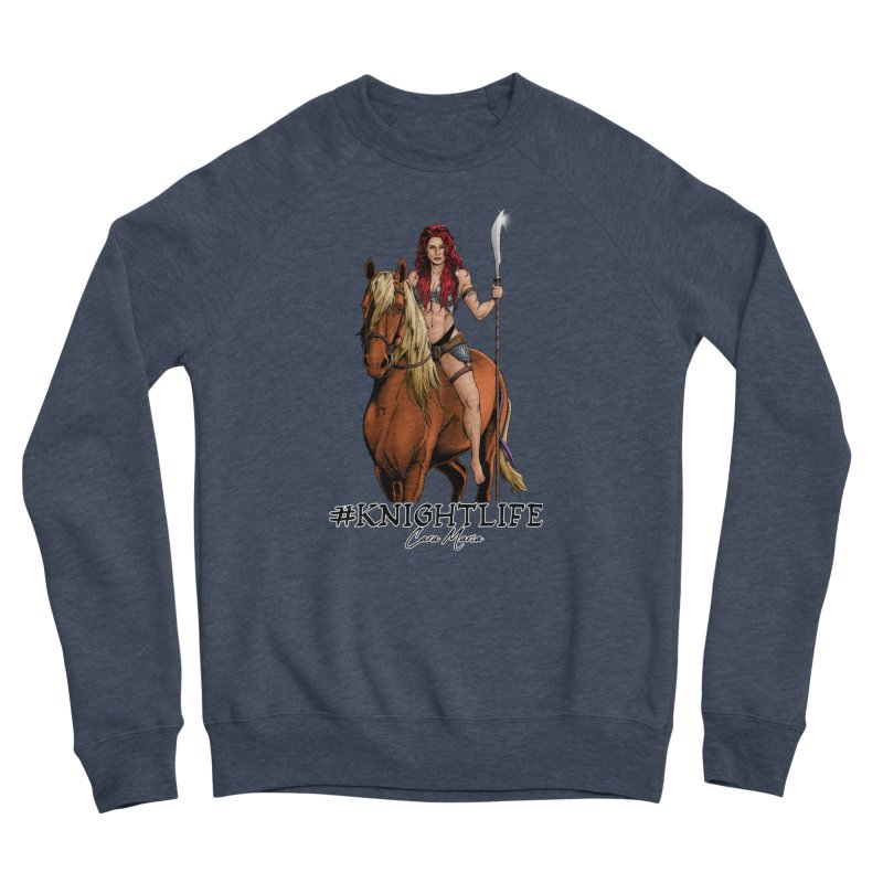 Cara Knight Life Men's Sponge Fleece Sweatshirt by Challenge Mania Shop
