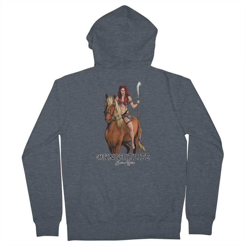 Cara Knight Life Men's French Terry Zip-Up Hoody by Challenge Mania Shop