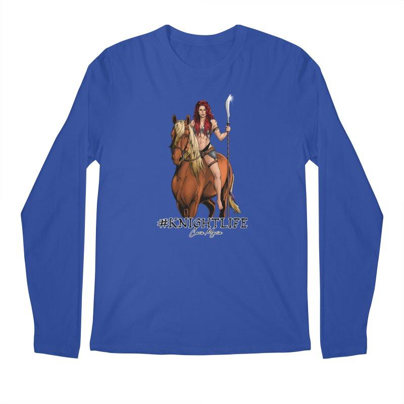 Cara Knight Life Men's Regular Longsleeve T-Shirt by Challenge Mania Shop