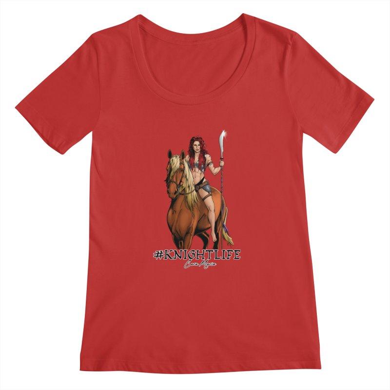 Cara Knight Life Women's Regular Scoop Neck by Challenge Mania Shop