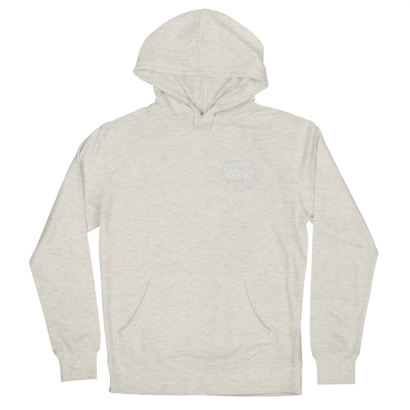 Podcast Logo Small Men's French Terry Pullover Hoody by Challenge Mania Shop