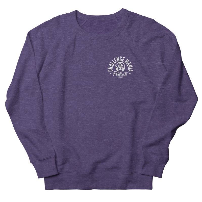 Podcast Logo Small Men's French Terry Sweatshirt by Challenge Mania Shop