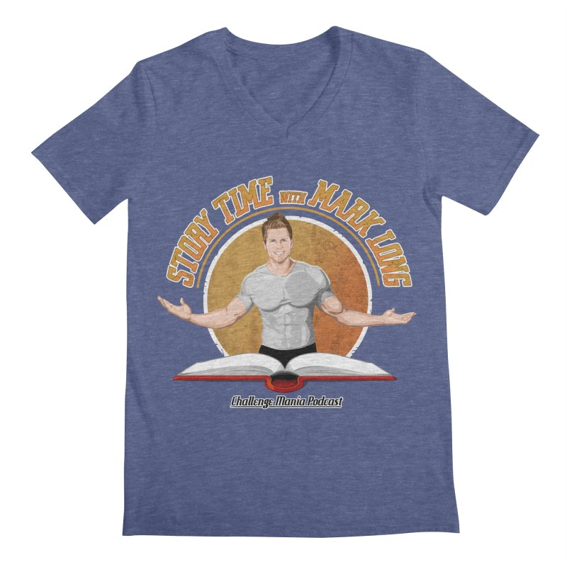 Story Time with Mark Long Men's V-Neck by Challenge Mania Shop