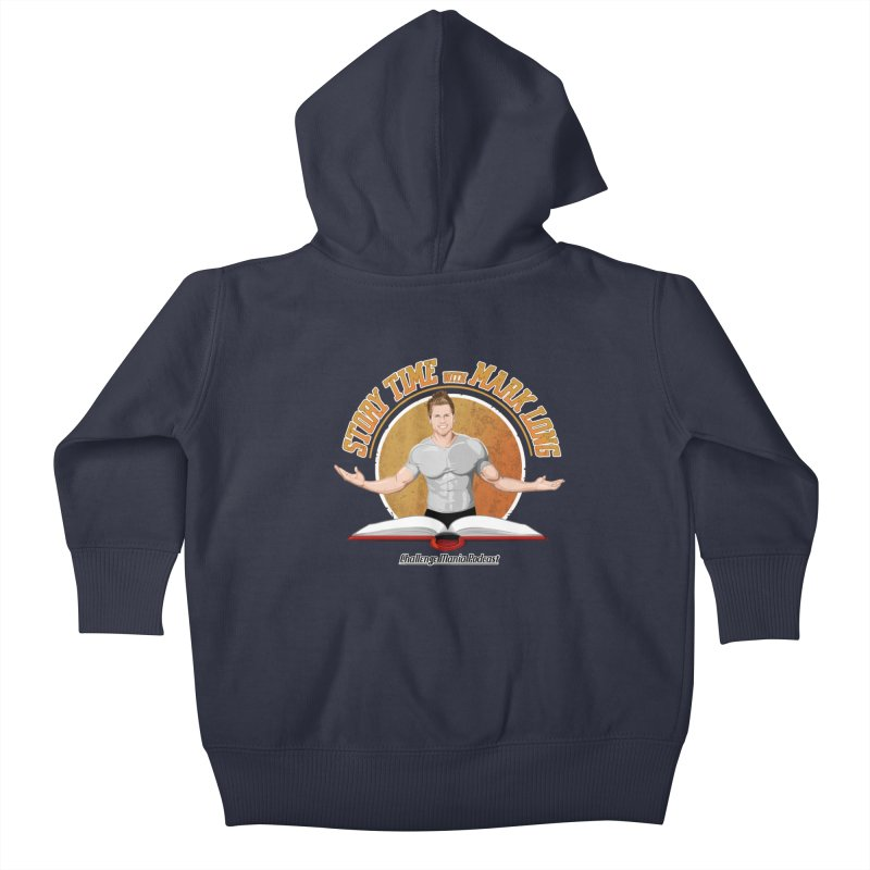 Story Time with Mark Long Kids Baby Zip-Up Hoody by Challenge Mania Shop