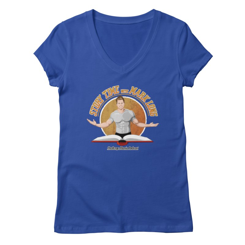 Story Time with Mark Long Women's Regular V-Neck by Challenge Mania Shop