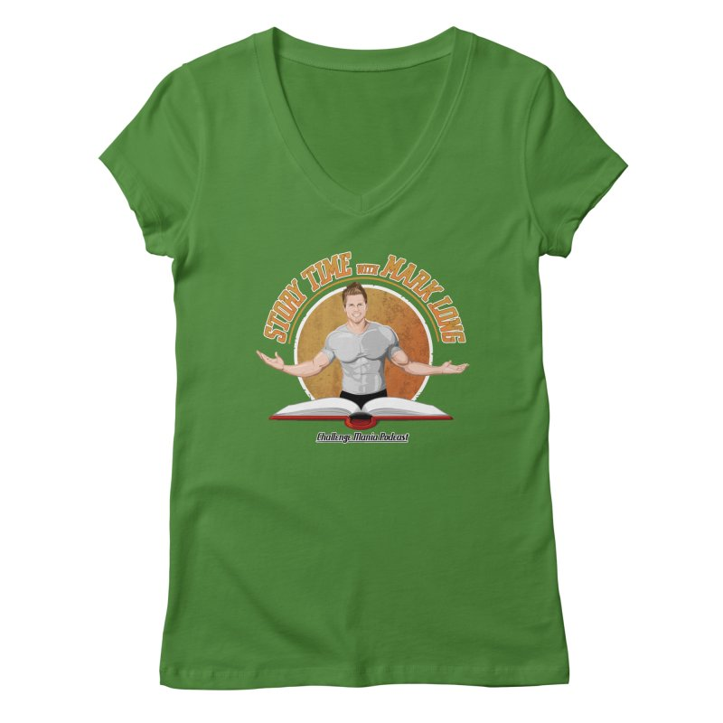 Story Time with Mark Long Women's V-Neck by Challenge Mania Shop