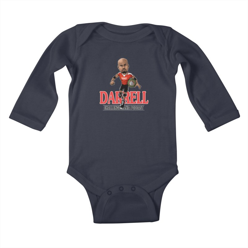 Darrell The Goat Kids Baby Longsleeve Bodysuit by Challenge Mania Shop