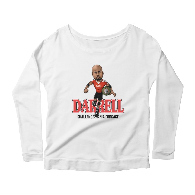 Darrell The Goat Women's Scoop Neck Longsleeve T-Shirt by Challenge Mania Shop
