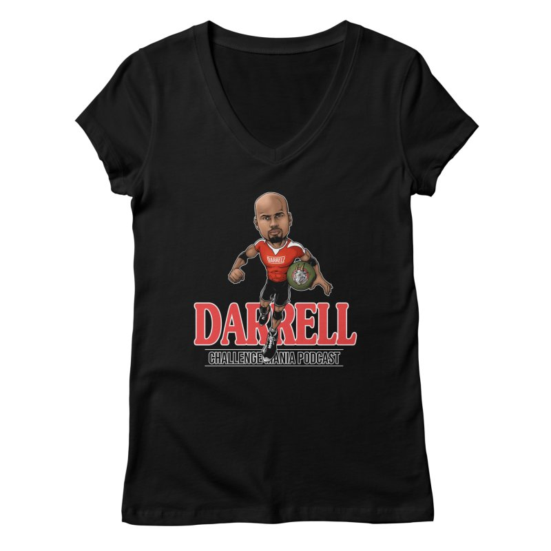 Darrell The Goat Women's V-Neck by Challenge Mania Shop