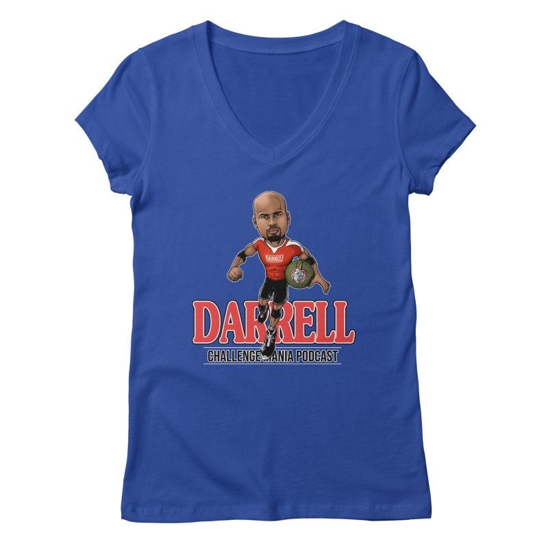 Darrell The Goat Women's Regular V-Neck by Challenge Mania Shop