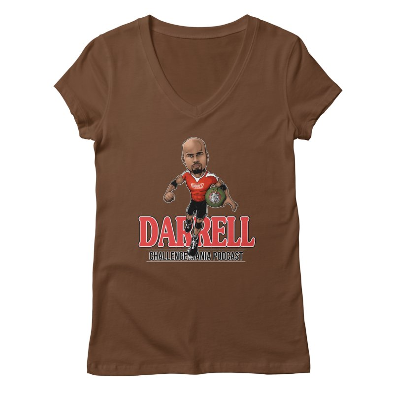 Darrell The Goat Women's Regular V-Neck by Challenge Mania Shop