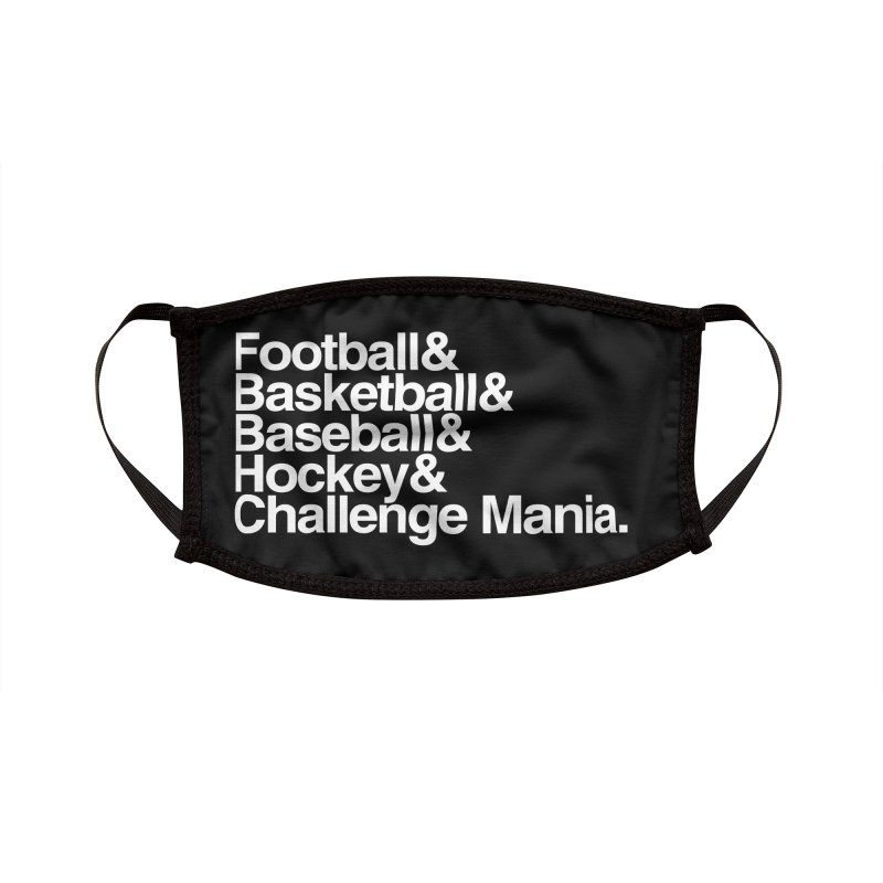 Fifth Sport (White) Accessories Face Mask by Challenge Mania Shop